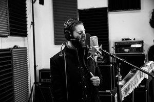 Fergus Linacre on the microphone at Toyland Recording Studio Melbourne