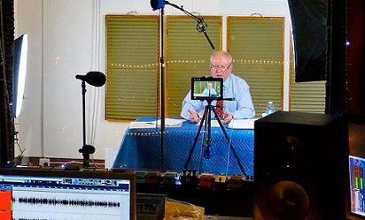 Dr Barry Evans at Toyland Recording Studio Melbourne